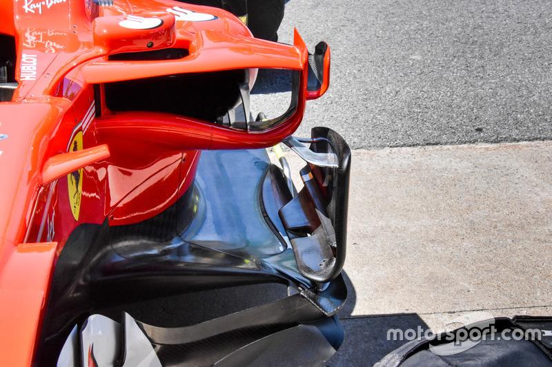 Ferrari SF70H, floor and sidepod deflectors