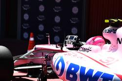Esteban Ocon, Sahara Force India F1 dans le parc fermé