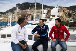 Alejandro Agag, Formula E CEO, CEO, Formula E Holdings. con Sébastien Buemi, Renault e.Dams, Lucas di Grassi, ABT Schaeffler Audi Sport