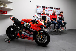 Marco Melandri, Ducati Team, Chaz Davies, Ducati Team, Ernesto Marinelli, Ducati Superbike Project Director