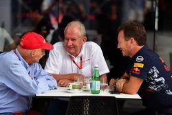 Niki Lauda, Mercedes AMG F1, Dr. Helmut Marko, Red Bull Racing Motorsport y Christian Horner, Red Bull Racing Team Principal
