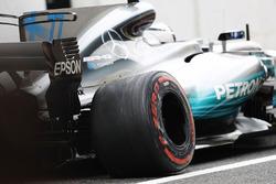 Valtteri Bottas, Mercedes AMG F1 W08 avec des dégâts