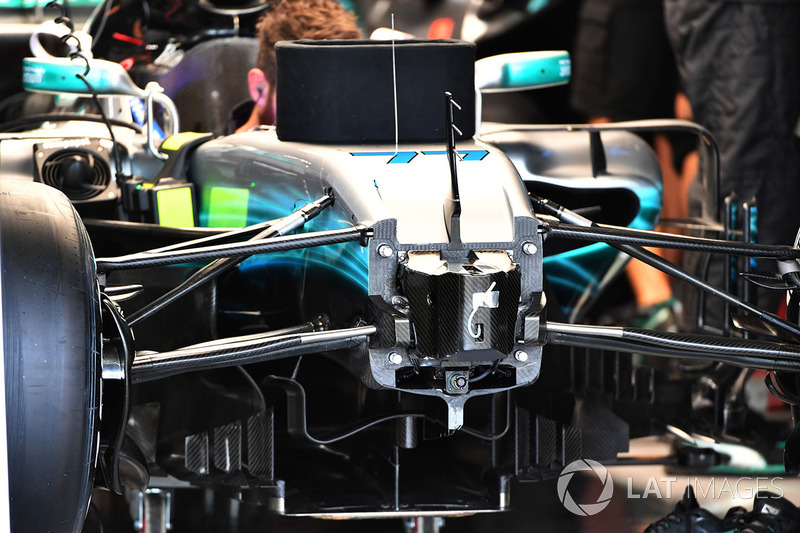 Mercedes-Benz F1 W08 şasi ve süspansiyon detay