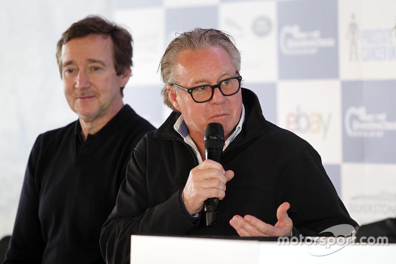 Wayne Gardner en la Conferencia de prensa de Silverstone Classic