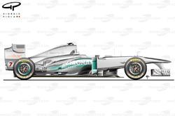 Mercedes W02 side view, Australian GP