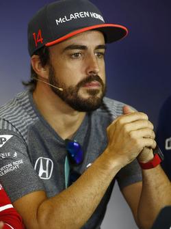 Fernando Alonso, McLaren, in the Thursday press conference