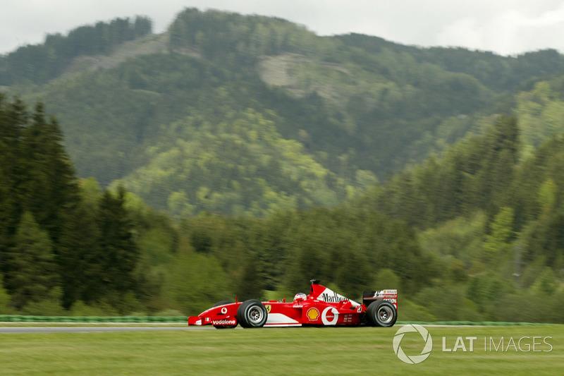 28º Rubens Barrichello, Ferrari F2002, Spielberg 2002. Tiempo: 1:08.082