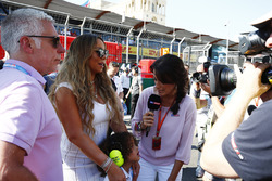 Singer Mariah Carey visits the grid