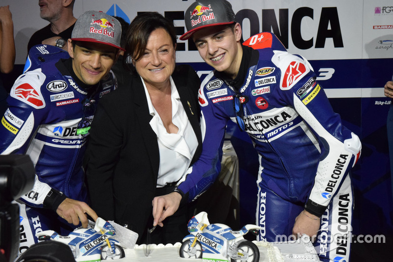 Jorge Martín, Gresini Racing Team y Fabio Di Giannantonio, Gresini Racing Team con invitados