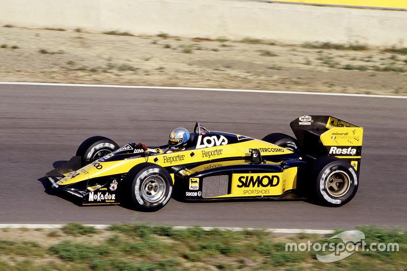 #24: Alessandro Nannini, Minardi M187, Motori Moderni