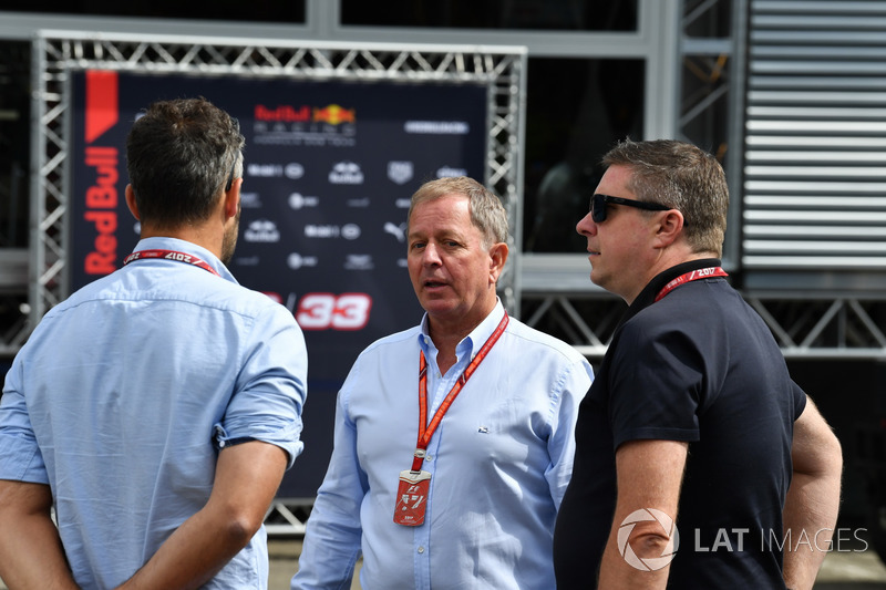 Martin Brundle, Sky TV and David Croft, Sky TV Commentator
