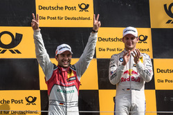 Podium: Marco Wittmann, BMW Team RMG, BMW M4 DTM, Mike Rockenfeller, Audi Sport Team Phoenix, Audi R