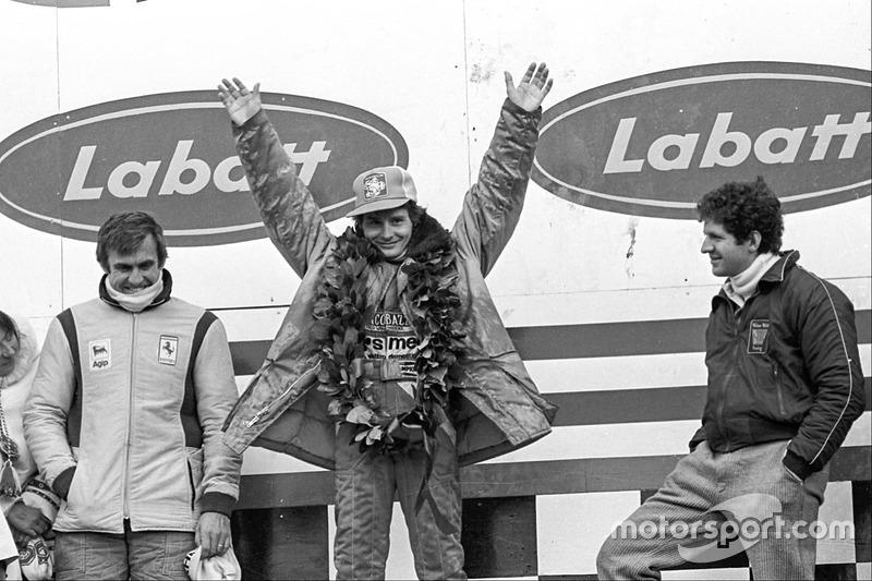 Podium: Pemenang balapan Gilles Villeneuve, Ferrari; runner-up Jody Scheckter, Wolf; peringkat ketiga Carlos Reutemann, Ferrari