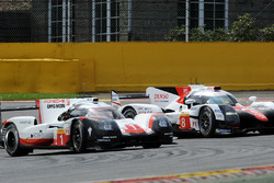 #1 Porsche Team, Porsche 919 Hybrid: Neel Jani, Andre Lotterer, Nick Tandy; #8 Toyota Gazoo Racing, Toyota TS050 Hybrid: Anthony Davidson, Sébastien Buemi, Kazuki Nakajima