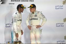 2. Lewis Hamilton, Mercedes AMG F1; 3. Valtteri Bottas, Mercedes AMG F1