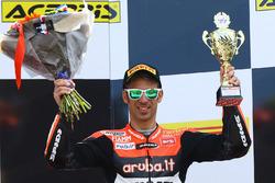 Podium : le troisième, Marco Melandri, Ducati Team