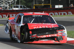 Ryan Reed, Roush Fenway Racing Ford with major damage