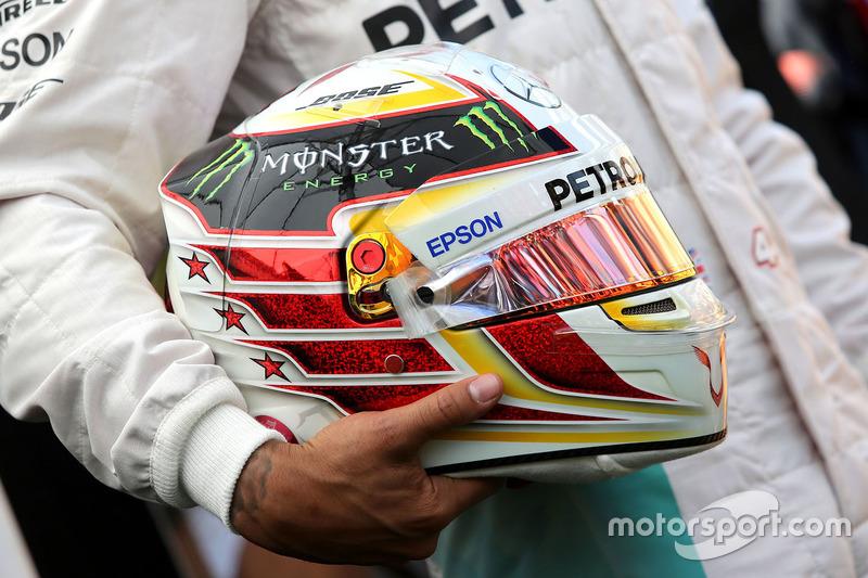 Helmet of Lewis Hamilton, Mercedes AMG F1 Team