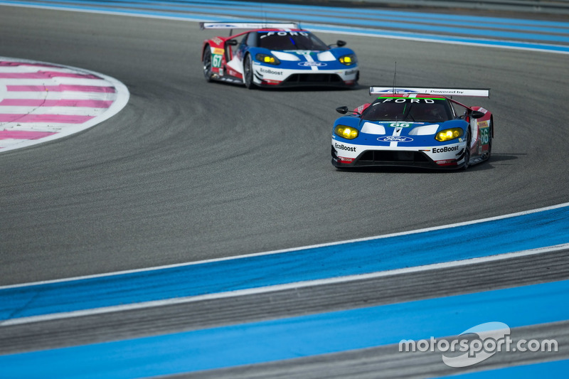 #66 Ford Chip Ganassi Racing Team UK Ford GT: Billy Johnson, Stefan Mücke, Olivier Pla and #67 Ford Chip Ganassi Racing Team UK Ford GT: Marino Franchitti, Andy Priaulx, Harry Tincknell