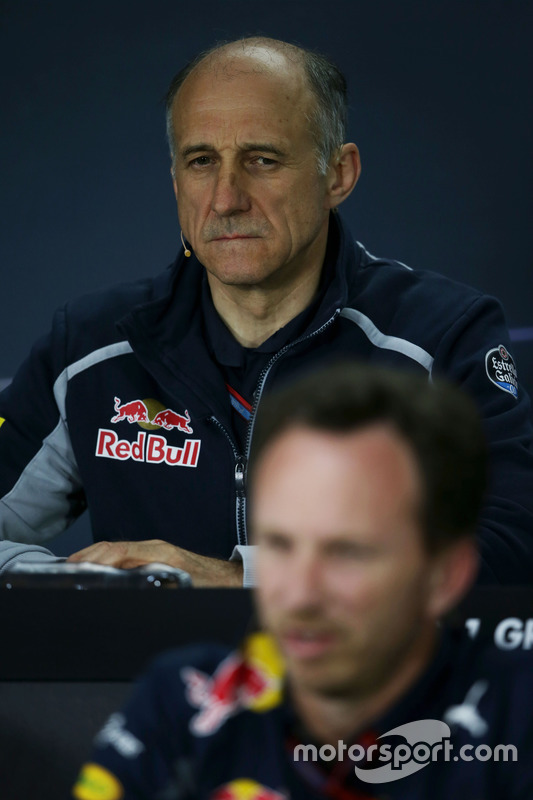 Franz Tost, Scuderia Toro Rosso Team Principal and Christian Horner, Red Bull Racing Team Principal in the FIA Press Conference