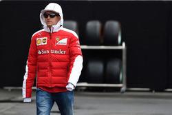 Kimi Raikkonen, Ferrari en el Paddock