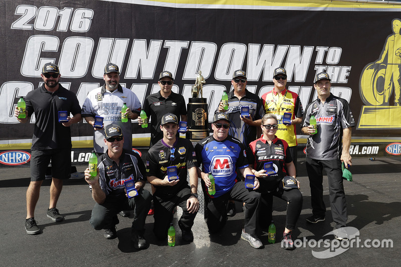 The 10 Pro Stock drivers in the countdown