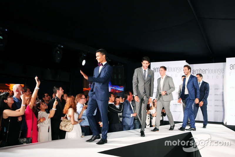 Pascal Wehrlein, Manor Racing and Esteban Ocon, Manor Racing at the Amber Lounge Fashion Show.
