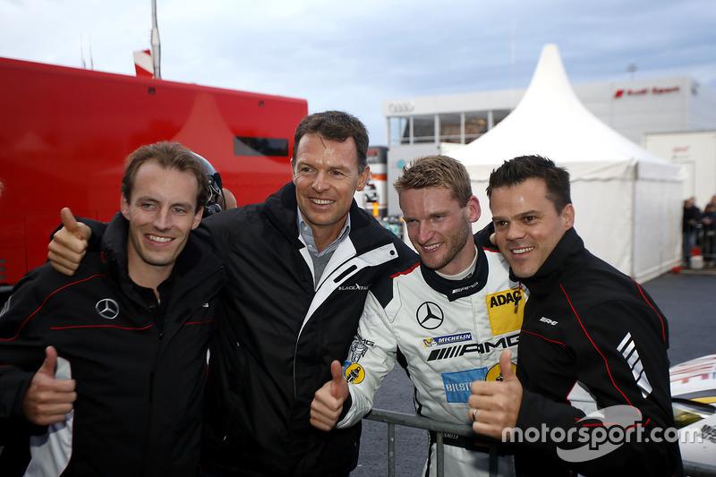 Pole position for #9 AMG-Team Black Falcon, Mercedes-AMG GT3: Hubert Haupt, Yelmer Buurman, Maro Engel, Dirk Müller