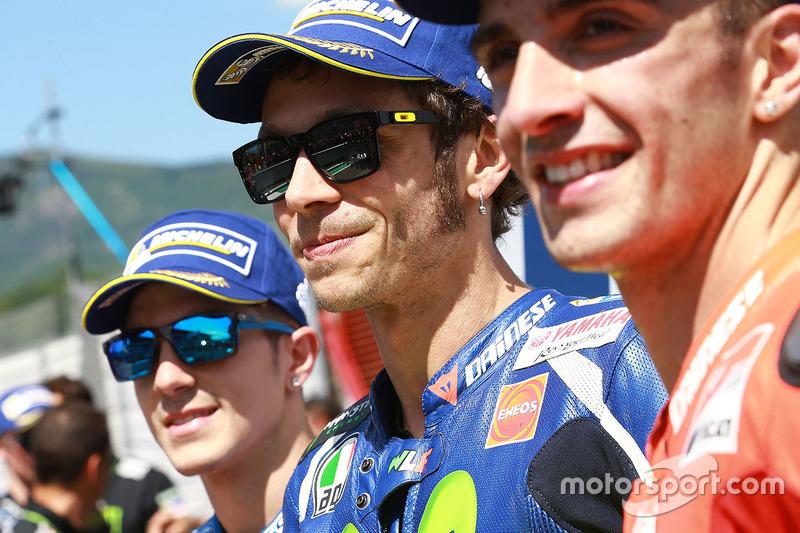 Maverick Viñales, Valentino Rossi y Andrea Iannone