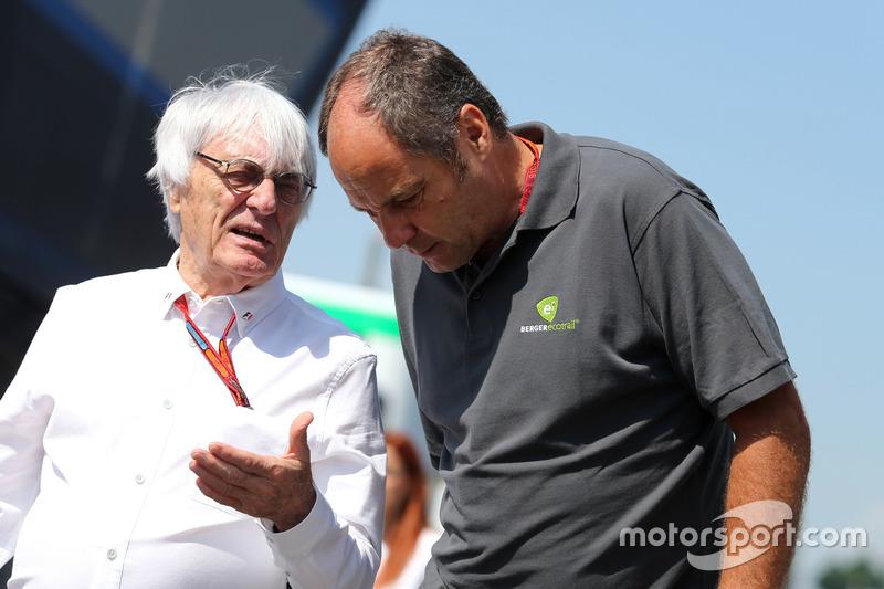 Bernie Ecclestone and Gerhard Berger