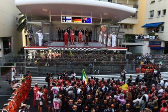 Podium: race winner Sebastian Vettel, Ferrari, second place Kimi Raikkonen, Ferrari, third place Daniel Ricciardo, Red Bull Racing