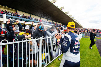 Race winner Jamie Whincup, Triple Eight Race Engineering Holden celebrates with champagne