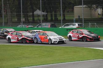 Mikel Azcona, PCR Sport Cupra TCR, Josh Files, Hell Energy Racing with KCMG Honda Civic Type R TCR, Attila Tassi, Hell Energy Racing with KCMG Honda Civic Type R TCR
