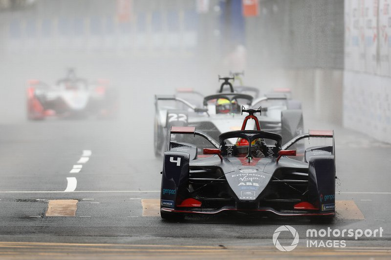 Robin Frijns, Envision Virgin Racing, Audi e-tron FE05 Oliver Rowland, Nissan e.Dams, Nissan IMO1