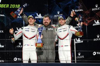 Podium GTE Pro: les vainqueurs #92 Porsche GT Team Porsche 911 RSR: Michael Christensen, Kevin Estre