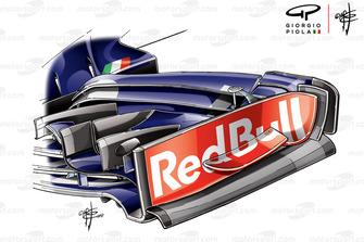 Торцева пластина переднього антикрила Toro Rosso STR13, Гран Прі США