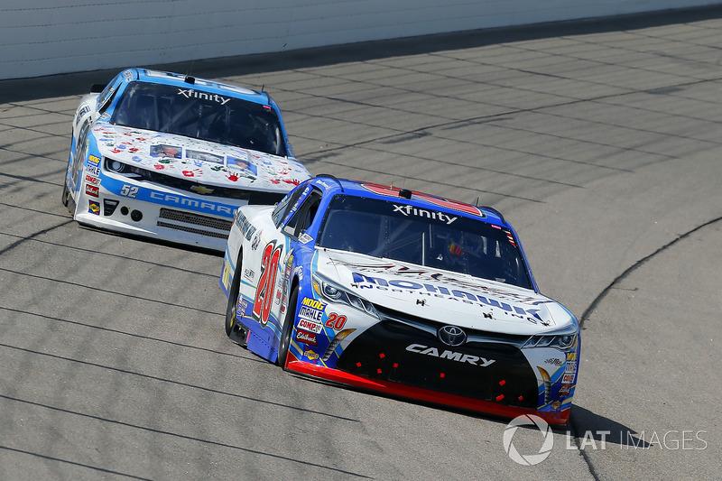 Ryan Preece, Joe Gibbs Racing Toyota and Joey Gase, Jimmy Means Racing Chevrolet