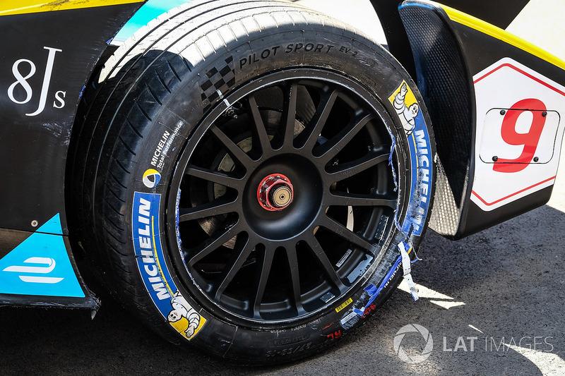 El coche chocado de Sébastien Buemi, Renault e.Dams