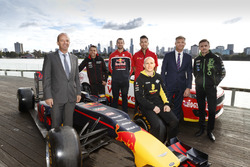 AGPC CEO, Andrew Westacott, Todd Kelly, Shane van Gisbergen, Fabian Coulthard, Lee Holdsworth, Supercars CEO, James Warburton and Mark Winterbottom