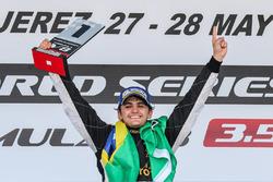 Podium: race winner Pietro Fittipaldi, Lotus