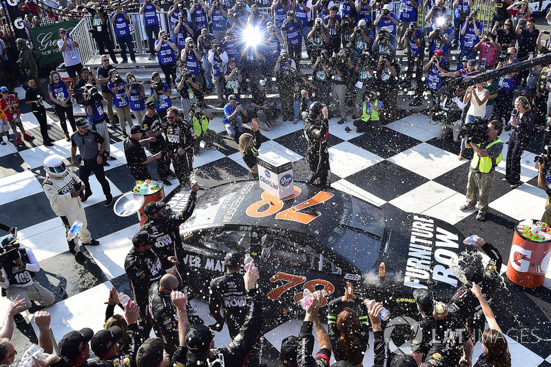 4. Race winner Martin Truex Jr., Furniture Row Racing Toyota