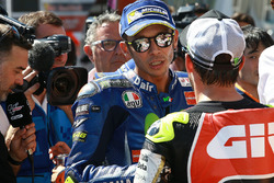 Segundo puesto Valentino Rossi, Yamaha Factory Racing, Cal Crutchlow, Team LCR Honda