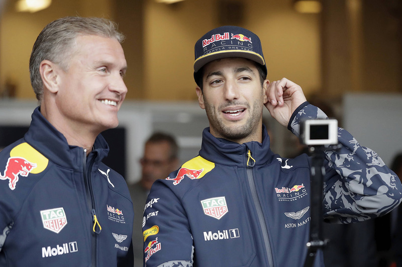 Daniel Ricciardo and David Coulthard, Red Bull Racing