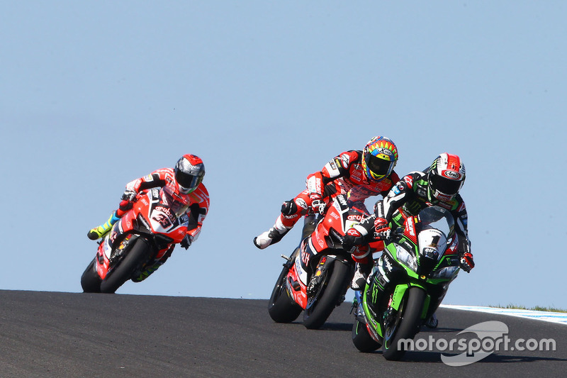 8. Jonathan Rea, Kawasaki Racing, Chaz Davies, Ducati Team