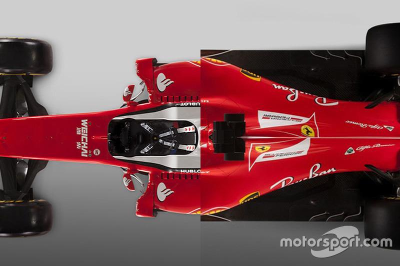 Vergleich: Ferrari SF16-H von 2016 und SF70H von 2017