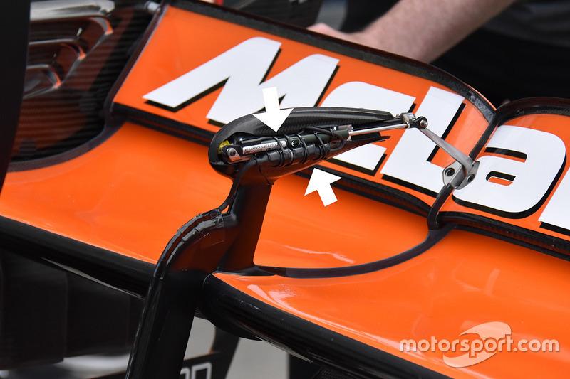 McLaren MCL32 rear wing sensor