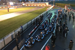 Drivers get ready for the benefit kart race