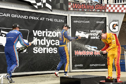 Scott Dixon, Chip Ganassi Racing Honda, Alexander Rossi, Curb Herta - Andretti Autosport Honda e Rya