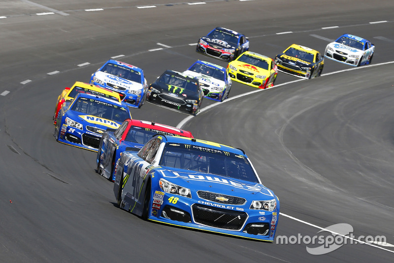 Jimmie Johnson, Hendrick Motorsports, Chevrolet; Ricky Stenhouse Jr., Roush Fenway Racing, Ford