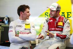 Loic Duval, Audi Sport Team Phoenix, Audi RS 5 DTM and Mike Rockenfeller, Audi Sport Team Phoenix, Audi RS 5 DTM